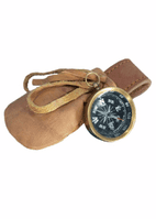 Larp Fully Functional Compass With Leather Pouch